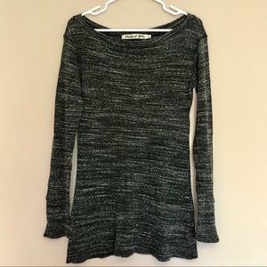 Michael Stars OS Stretchy Boatneck Sweater Tunic